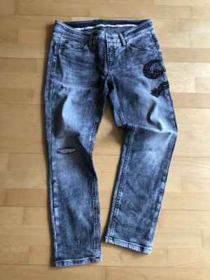 Cambio Jeans 7/8 Length Jeans grey-black