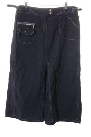 Cambio Jeansrock dunkelblau Jeans-Optik