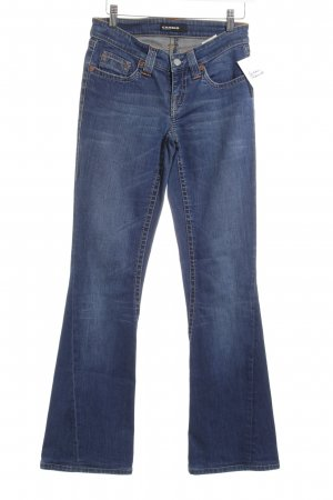 Cambio Jeansschlaghose stahlblau Casual-Look