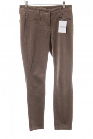 Cambio Leather Trousers light brown casual look