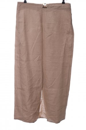 Cambio Linen Skirt brown business style