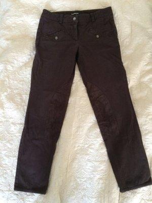 Cambio Reithose Gr. 36 braun Hose Stoffhose mit Leder