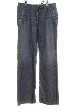 Cambio Schlaghose graublau-weiß 90ies-Stil
