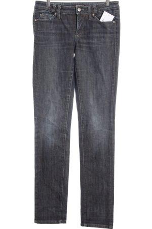 Cambio Slim Jeans dunkelblau-bronzefarben Street-Fashion-Look