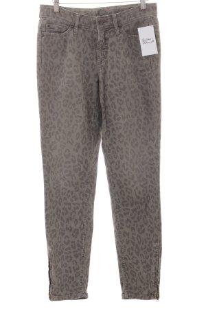 Cambio Slim Jeans graubraun-dunkelgrau Leomuster Casual-Look