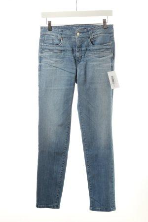 Cambio Slim Jeans hellblau-wollweiß Casual-Look