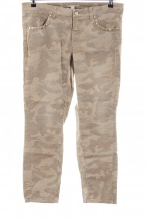 Cambio Stoffhose creme Allover-Druck Casual-Look