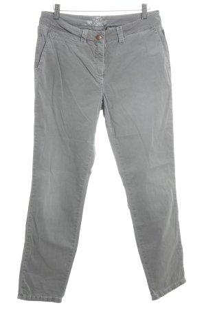 Cambio Stoffhose grau schlichter Stil