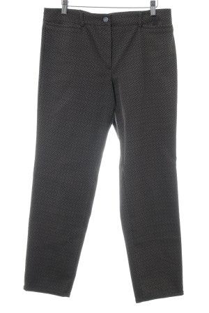 Cambio Stoffhose schwarz-graubraun abstraktes Muster Casual-Look