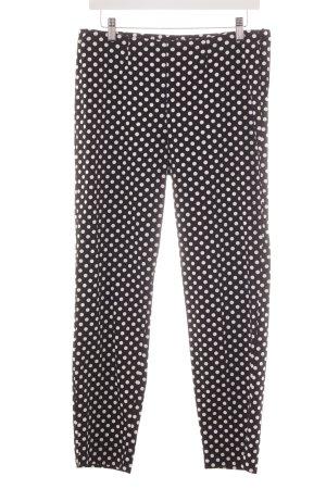 Cambio Stoffhose schwarz-weiß Punktemuster Street-Fashion-Look