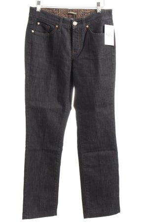 Cambio Straight-Leg Jeans dunkelblau meliert Casual-Look