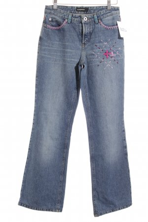 Cambio Straight-Leg Jeans florales Muster Hippie-Look