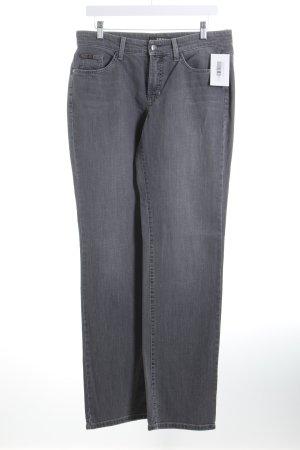 Cambio Straight-Leg Jeans grau Casual-Look