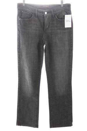 Cambio Straight-Leg Jeans grau-wollweiß meliert Casual-Look