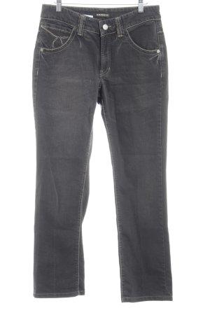 Cambio Straight-Leg Jeans graubraun Gypsy-Look