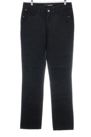Cambio Straight-Leg Jeans schwarz klassischer Stil