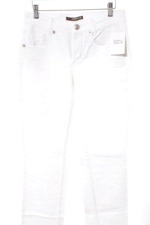 Cambio Jeans coupe-droite blanc style décontracté