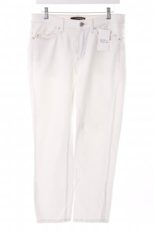 Cambio Straight-Leg Jeans weiß schlichter Stil