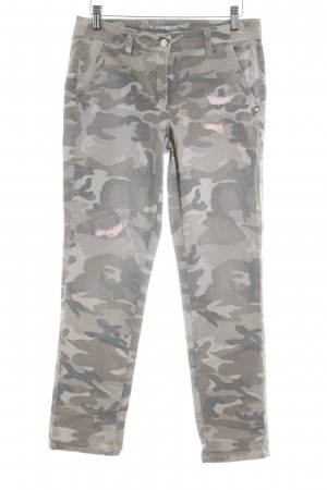 Cambio Stretchhose khaki Camouflagemuster Casual-Look