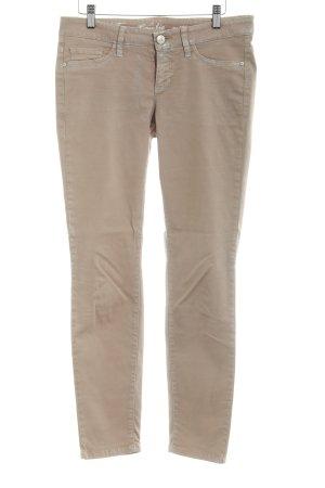 Cambio Pantalon strech beige-argenté style déchiré