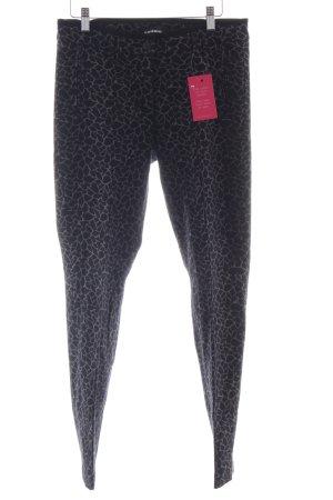 Cambio Pantalone elasticizzato nero-marrone-grigio Stampa leopardata