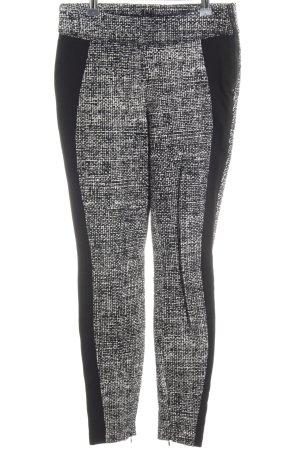 Cambio Pantalón elástico negro-gris claro estampado con diseño abstracto