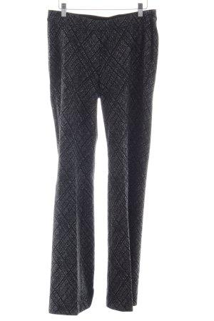 Cambio Pantalone elasticizzato nero-grigio chiaro motivo a quadri