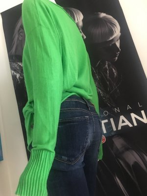 Cambio Jeans Stretch Jeans steel blue-neon green