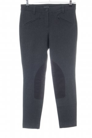 Cambio Woolen Trousers light grey-black flecked casual look