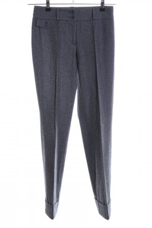 Cambio Wollhose hellgrau meliert Business-Look