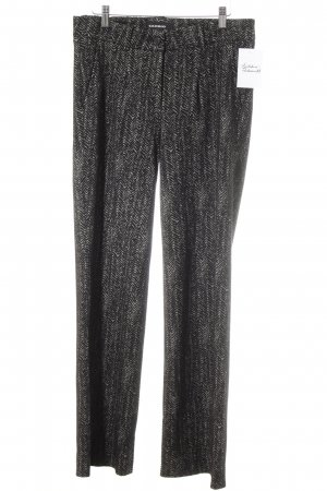Cambio Woolen Trousers black-natural white abstract pattern casual look