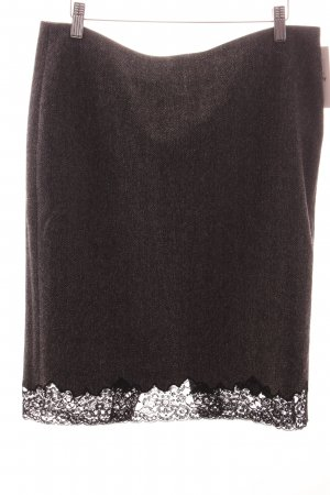 Cambio Wollrock grau-schwarz Fischgrätmuster Eleganz-Look