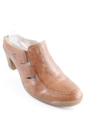 Camel Active Heel Pantolettes cognac-coloured casual look