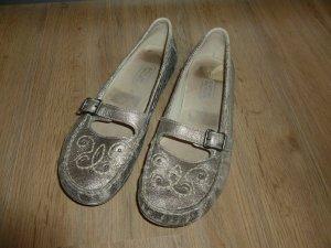 camel active Ballerinas Schuhe silber 5