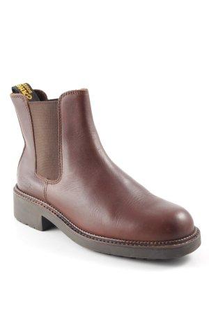 Camel Active Chelsea Boot brun foncé-brun rouge style décontracté