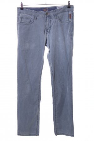 Camel Active Lage taille broek blauw casual uitstraling