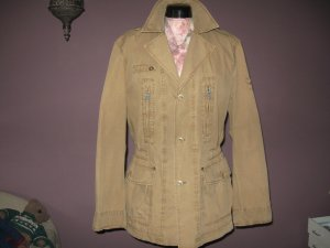 Camel Active Outdoor Jacket sand brown cotton
