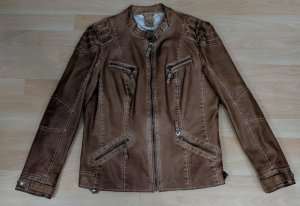 Canda Faux Leather Jacket brown-cognac-coloured
