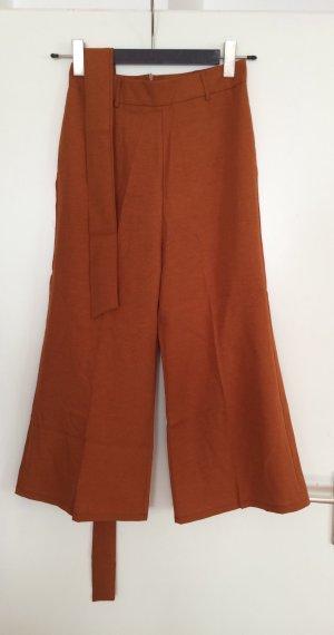 Pantalone culotte cognac