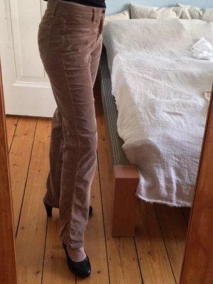 Closed Corduroy Trousers camel mixture fibre