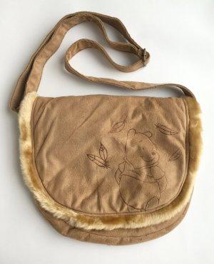 Camelfarbene Winnie Pooh Tasche