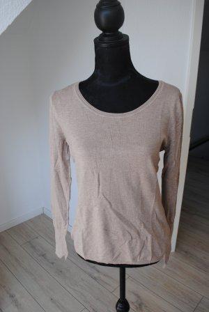 C&A Jersey de cuello redondo marrón arena