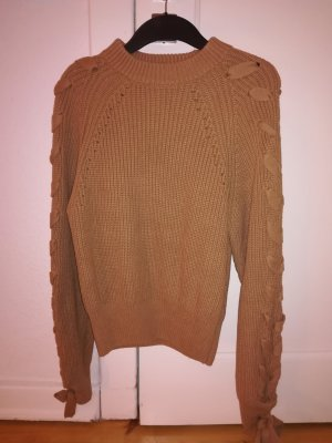 camelfarbener Pullover H&M Trend