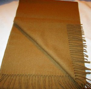 Fringed Scarf camel-brown