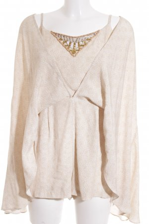 Camilla Jumpsuit beige-creme abstraktes Muster Street-Fashion-Look