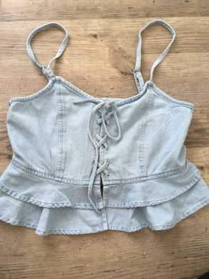 Camisole Jeans Top Bauchfrei 38 Neu