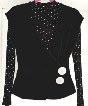 Zara Camisola blanco-negro