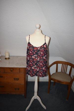 Camisole mit Rosendruck und Detail am Rücken