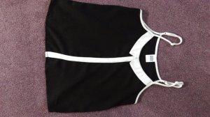 Camisole schwarz- weiß