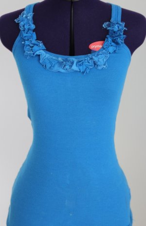 Abercrombie & Fitch Camisoles neon blue cotton